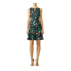 Kate Spade Jardin Tile Jacquard Dress
